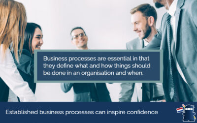 Established business processes can inspire confidence