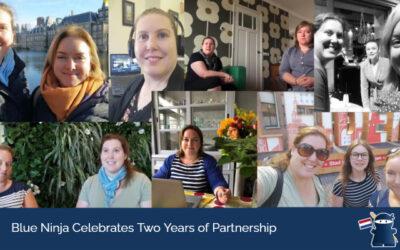 Blue Ninja Celebrates Two Years of Partnership